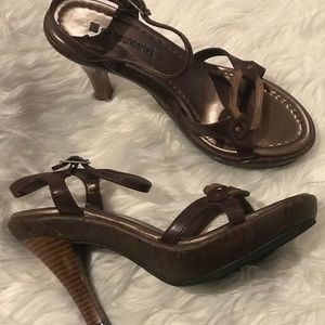 No Boundaries Brown Platform Heels